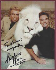 "Siegfried & Roy, Las Vegas Big Cat Act, Signed 5"" x 7"" Photo, COA, UACC RD 036"