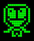 Green Pixel Alien Pet Digital Art NFT card created by ELY M. elymbmx Crypto