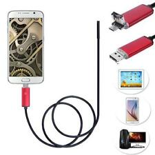 2in1 Android USB Endoskop Inspection Kamera 7mm 6 LED HD IP67 Waterproof  1M HOT