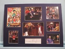 Ted Danson in Cheers signed by Frances Sternhagen aka Mother Clavin of Cliff