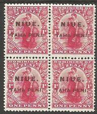 Niue SG 21 Block of 4 MNH (8cqv)