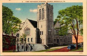 Postcard First Methodists Episcopal Church Brookville PA