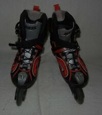 Roces Inline Slim Skates Mens Size 9 Black-Silver-Red