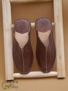 Handcrafted Artisanal Moroccan Brown ALADIN Style Slippers