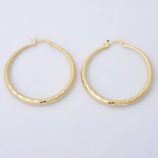 14K Yellow Gold Women's Jewelry Hoop Earrings Birthday Party Gift