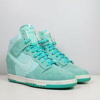 Nike Dunk Sky Hi High Essential Teal Hidden Wedge Sneakers Women Size 9