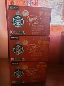 Starbucks pumpkin spice k cups 3 10 count boxes(30 pods)