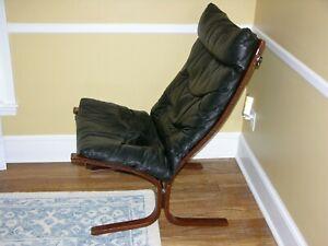 Westnofa Siesta Leather Highback Chair,  Relling Design, Mid-Century Modern