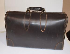 Vintage Leather Briefcase Doctor Attorney Bag BRIEFCASE / ATTACHE KEY