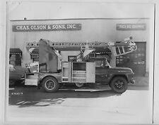 5 Old 1958 FORD F-600  8x10 Truck photos Lift  Telephone Utility Co
