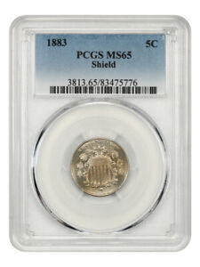 1883 Shield 5c PCGS MS65 - Great Type Coin - Shield Nickel - Great Type Coin