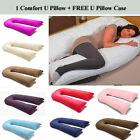 9 Ft / 12 Ft Comfort U Pillow Full Body Maternity Pregnancy Support + Free Case <br/> LARGE EXTRA FILLED ~ UK SELLER