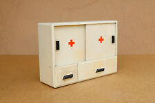 Antique Primitive Wooden Wood Medical Box First Aid Chest Cupboard 1968 with Tag