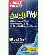 Advil PM Pain Reliever/Nighttime Sleep-Aid 80 Liqui-Gels Liquid Filled No box