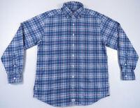 Vineyard Vines Whale Shep Ian Blue White Pink Button Up Long Sleeve Murray Shirt