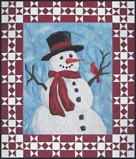 """Mr. Frosty """"picture piecing"""" quilt pattern by Cynthia England of England Design"""