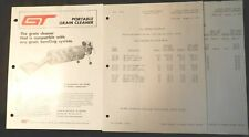 Gilmore-Tatge Portable Grain Cleaner and Price Lists, 1979, clean, illustrated
