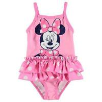 Disney Baby Girls Minnie Mouse Pink Swimsuit Swimwear Swimming Swim Costume