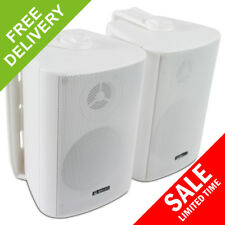 2x Adastra White Wall Mountable Surround Sound Home Audio Hi-Fi Speakers 60W