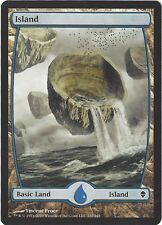 TCG MtG 171 Magic the Gathering Zendikar Full Art Land  Island/Insel