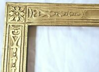 "ANTIQUE Fits 11 X 14"" Lemon Gold Picture Frame Wood Fine Art COUNTRY PRIMITIVE"