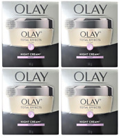 Olay Total Effects 7-in-1 Anti-Aging Night Cream & Moisturizer, 1.7 oz (4 Pack)