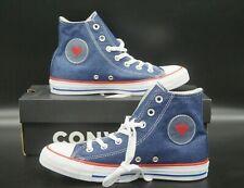Converse Chuck Taylor All Star CTAS Hi 163303 Blau Rot Jeans Herz Damen 36-41
