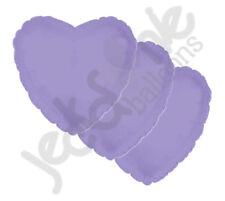"3 pc - 18"" Solid Lavender Heart Balloon Wedding Baby Bridal Shower Birthday Luau"