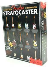 "Fender Stratocaster Guitar 1000 piece Jigsaw Puzzle 20"" x 27""  Aquarius - Sealed"