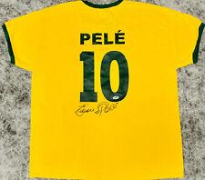 Pele Signed Brazil Soccer Jersey Full Name Autographed w/ Edson - PSA/DNA COA