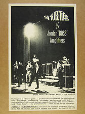 1966 The Turtles rock band Jordan Boss Amps Amplifiers vintage print Ad