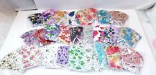 3 pack HANDMADE FASHION FACE COVER MASK custom floral cherry Reusable WASHABLE
