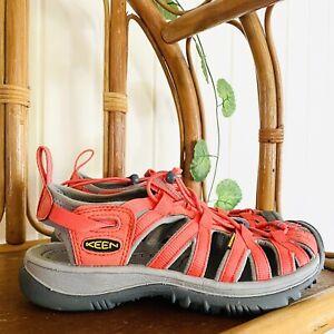 🌱 KEEN Sz 37 'Whisper' Hiking Sandals Hot Coral EUC Pink