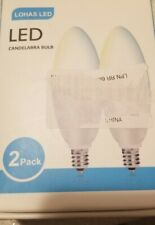 LOHAS Smart LED Candelabra E12 5W Bulb, 2-Pack