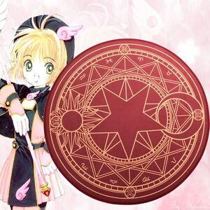 Dark Red Clow Tarot Card Pattern Round Area Rug Cardcaptor Sakura Home Deco 1pc