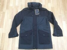 MERC LONDON QUILTED HOODED CONTRASTING CHECK WINTER JACKET SKINNER BLACK SIZE M