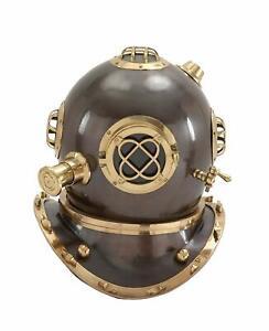 "18""Navy Divers Helmet Maritime Scuba Vintage Halloween  Mark V Diving Equipment"