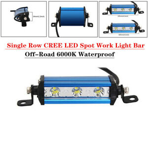 9W Ultra Thin Single Row LED Spot Work Light Bar ATV Off-Road 6000K Durable