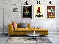 Vintage Coffee Advertising Art Print Poster Set. Choice of 3 Prints!