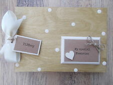 PERSONALISED SPECIAL MEMORIES WOODEN SCRAPBOOK/PHOTO BOOK /MEMORIES