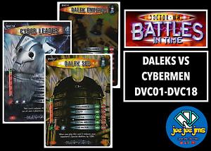 Dr Doctor Who Battles in Time Cards - DALEKS VS CYBERMEN Singles DVC01-DVC18