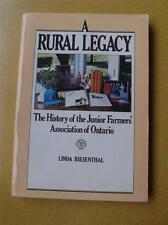 BOOK HISTORY JUNIOR FARMERS ASSOCIATION OF ONTARIO RURAL LEGACY BIESENTHAL 1981