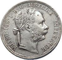 1878 AUSTRIA FRANZ JOSEPH I Silver Mint State Silver Florin Vintage Coin i72430