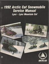 1992 ARCTIC CAT SNOWMOBILE LYNX / MOUNTAIN CAT SERVICE MANUAL