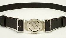 SCOUT CUB BEAVER LEATHER BELT AND BUCKLE S/M NEW STYLE
