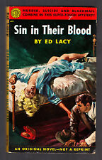 SIN IN THEIR BLOOD Ed Lacy ETON 1st P 1952 E111 DEAD BLONDE Cover! FIGHTING BC!