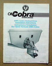 1986 OMC Cobra Vertical Drive Installation Intructions*