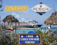 Bahamas - HALF MOON CAY - Holland America Line - Travel Souvenir Fridge Magnet