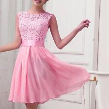 Women Lace Short Dress Prom Evening Party Cocktail Bridesmaid Wedding Plus Size