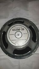 Celestion Speaker  G12M-70 England T3575 type 4ohm. Needs Recone. Buzzes